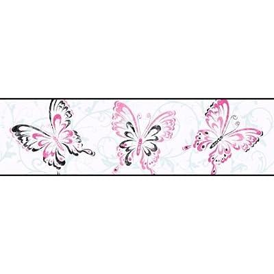 York Wallcoverings Candice Olson Kids Butterfly Scroll Border