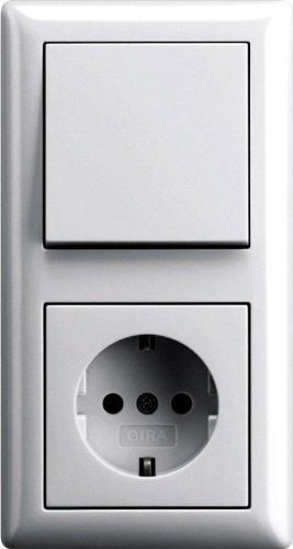 Beliebt Komplett-Set GIRA, 2-fach Kombination, Wechselschalter / Steckdose HW73