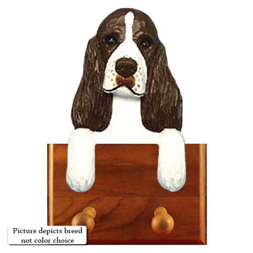 BLACK English Springer Spaniel Leash Holder (Springer Leash Holder Spaniel)