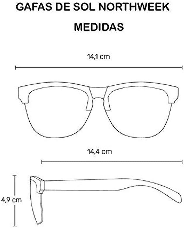 NORTHWEEK Gafas de sol unisex Black matte| Bright white ...