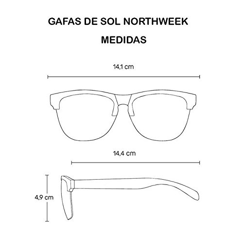 polarizada Creative Bright gafas azul lente unisex Red Northweek de sol xqgCRO