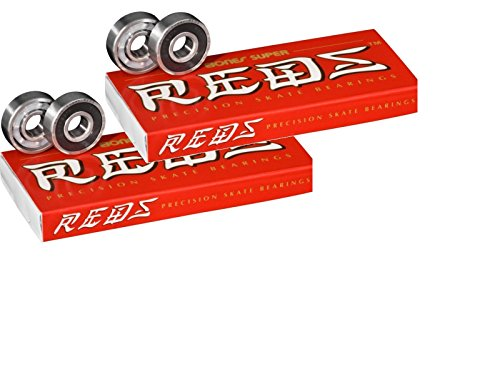Price comparison product image Bones Super Reds Bearings, 8 Pack set (2 x 8 Pack)