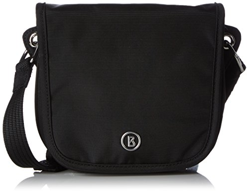 Bogner Leather Lilly - Bolso Bandolera Mujer Negro - Schwarz (Black/Teak 090)