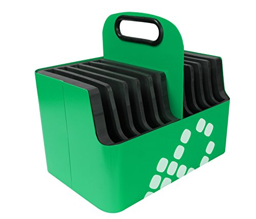 (LocknCharge Aluminum Device Carry Basket, 10 Slot, Green (10024))