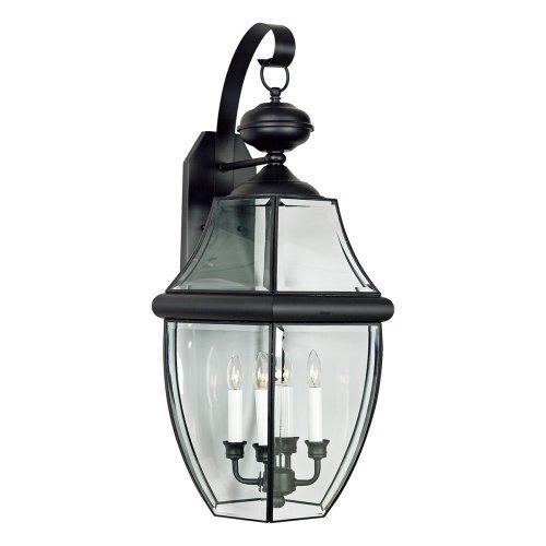 Quoizel NY8339K  Newbury 4-Light Outdoor Lantern, Mystic Black