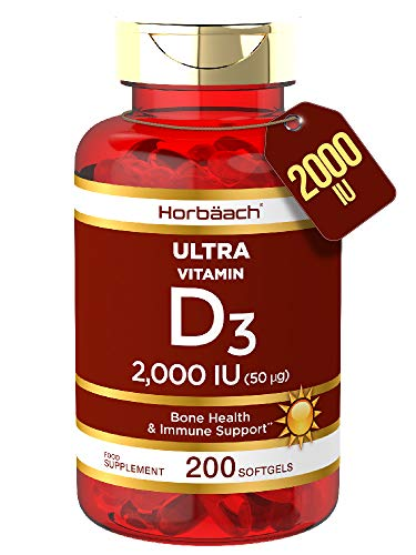 Vitamin D 2000iu | 200 Softgel Capsules | High Strength D3 | Bone Health & Immune Supplement | Non-GMO, Gluten Free | by…