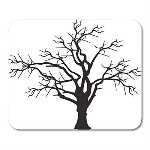 (Semtomn Gaming Mouse Pad Dead Tree Spooky Old Dark Mystery Black Cemetery Clip 9.5