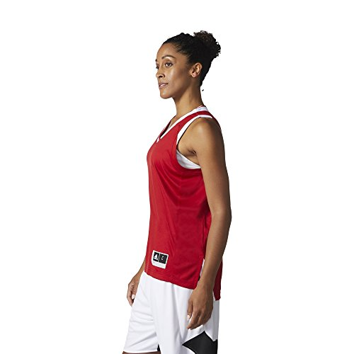 adidas W Crazy Expl Jr Camiseta Baloncesto, Mujer rojo (rojpot / blanco)