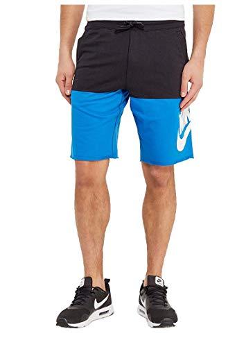 Nike Men's Sport Casual Franchise Shorts-Black/Photo Blue-Large