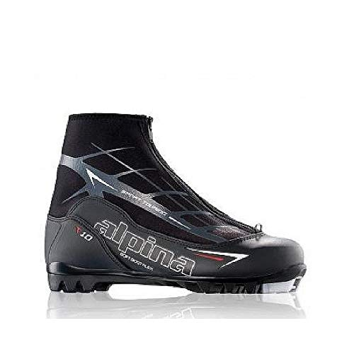 Alpina Sports T10 Touring Cross Country Nordic Ski Boots, Black/White/Red, Euro 42 ()