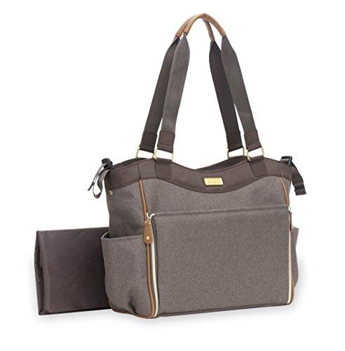 Carter's Drop Front Cross Hatch Tote Diaper Bag, Brown