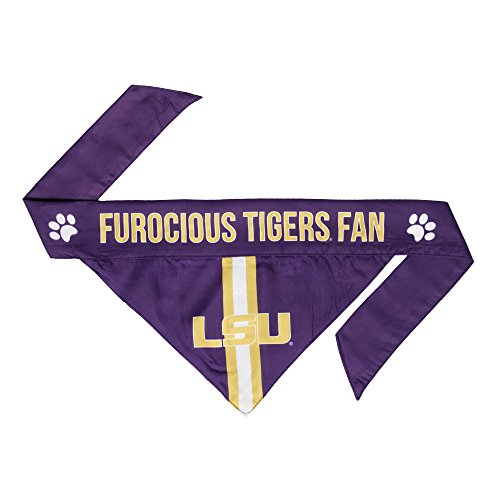 NCAA LSU Tigers Pet Bandanna, (Football Star Bib)