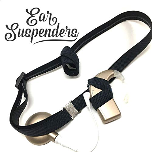 (Ear Suspenders Headband for Cochlear Implant Retention (Black))