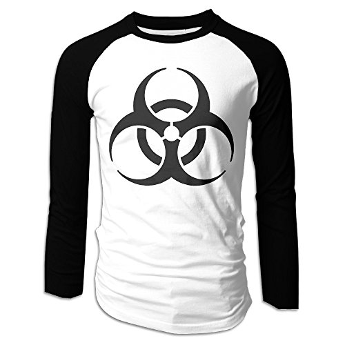Men's Resident Evil Biohazard Symbol Logo Long Sleeve Raglan T Shirt