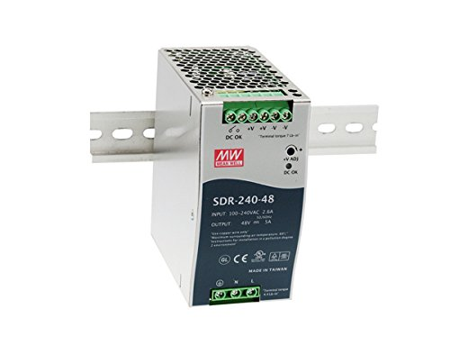 1 Din Rail - MEAN WELL SDR-240-24 SDR-240 Series 240 W Single Output 24 V AC/DC Industrial DIN Rail w/PFC Function - 1 item(s)