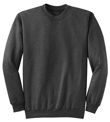 Joe's USA Adult Classic Crewneck Sweatshirt, L -DarkGreyHeather
