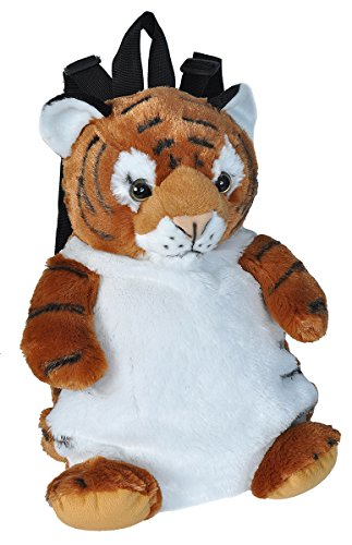(Wild Republic Tiger Backpack, Mini Backpack, Animal Bag, Kids Gifts, Plush Zoo Animal, 14 Inches)