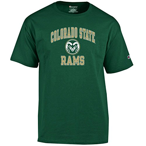 Champion NCAA Men's Shirt Short Sleeve Officially Licensed Team Color Tee, Colorado State Rams, (Colorado State University Gear)