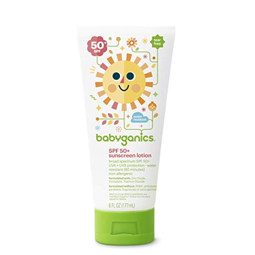 Babyganics Baby Sunscreen Lotion, SPF 50, 6oz Tube