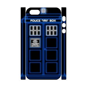 Police Box?šº?Doctor Who DIY 3D Case Cover for iPhone 5,5S LMc-99502 at LaiMc
