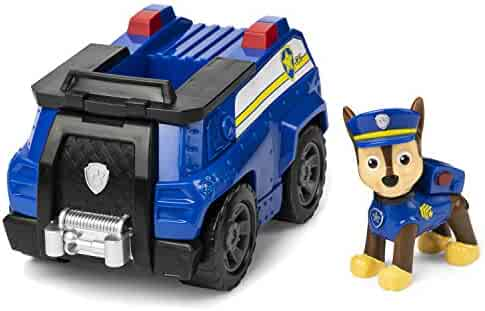 Paw Patrol Chase's Patrol Cruiser Vehicle with Collectible Figure