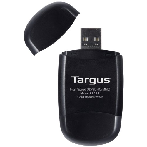 Targus USB 2.0 Secure Digital Card Reader/Writer with Micro SD Slot (TGR-MSD500) by Targus