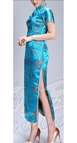 Cheongsam Jaycargogo Short Slim Dresses Fit Women's Sleeve 2 Chinese T1R1nq67I