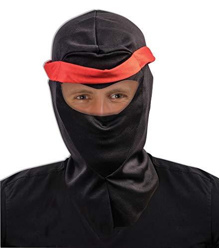 Adult's Black Fabric Executioner Ski Mask Costume Ninja