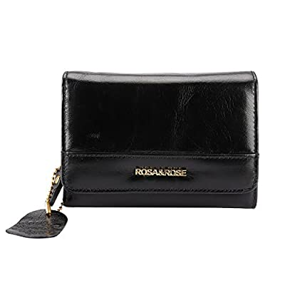 Leather Coin Purse Key Chain Credit Card Wallet Card Holder with ID Window Small Size