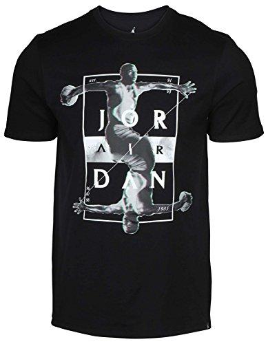 Nike Jordan Men's Dynamic Graphic T-Shirt-Black-2XL