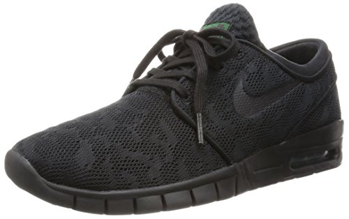 Nike Stefan Janoski Max, Unisex Adults' Low-Top Sneakers Multicolored (Black/ Black-verde Pino)