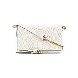 Stella Mccartney Women S Flo Mini Shoulder Handbag White