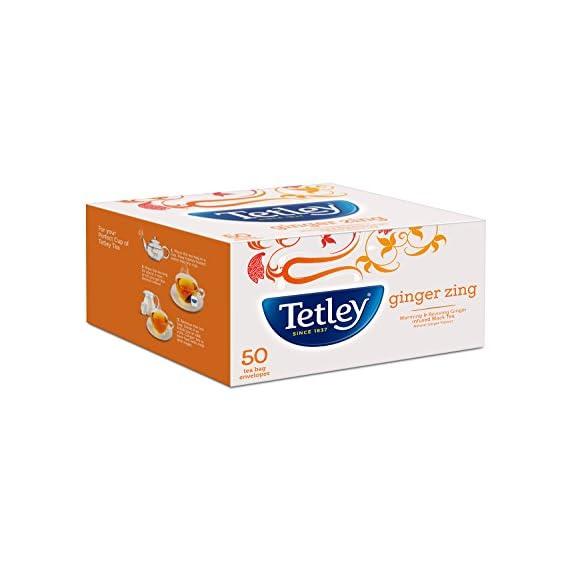 Tetley Flavour Tea Bags Ginger Zing 50s (100gm)