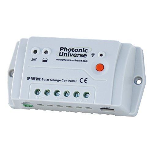 10A solar panel charge controller/regulator 12V/24V for camper/caravan/boat...