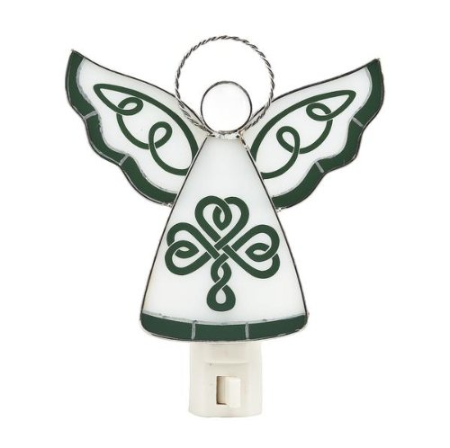 Lamp Celtics (Celtic Angel Stained Glass Green Night Light)