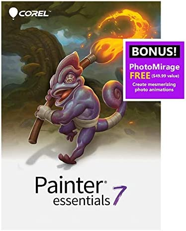 Corel Painter Essentials 7 | Digital Art Suite | Amazon Exclusive Includes Free PhotoMirage Express Valued at $49 [PC Download] [Old Version]