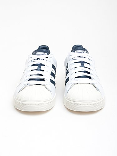 Adidas Originali Mens Originali Superstar Vulc Adv Allenatori Collegiali Uk6 Bianco