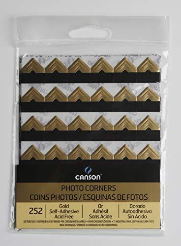 CANSON 100510401 Self Adhesive Photo Corners, Gold ()