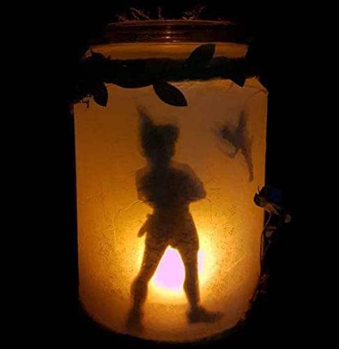 Peter Pan capturado en tarro de luz,lampara LED quitamiedos habitación de bebe,luz tenue.