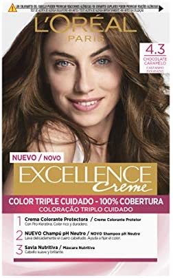 LOreal Excellence Creme 4.3 Chocolate Caramelo - 1 ...