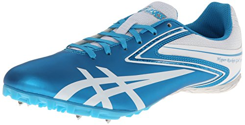 ASICS Women's Hyper-RocketGirl Sp 5 Track Shoe,Turquoise/White,9 M US