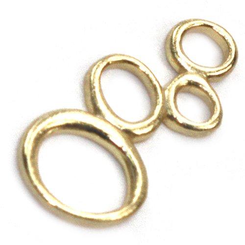 Amoracast Exclusive Gold Vermeil Circle Cluster Pendant