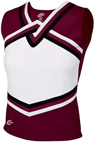 Chassé Girls' Sport Legacy Shell Top Maroon/White/Black Youth Small