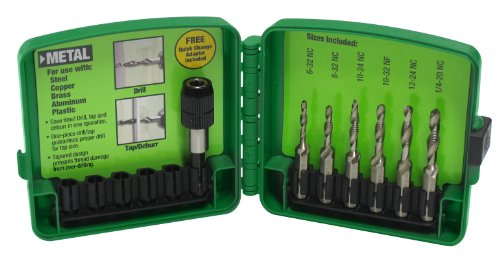 Greenlee DTAPKIT 6-32 to 1/4-20 6-Piece Combination Drill and Tap Set