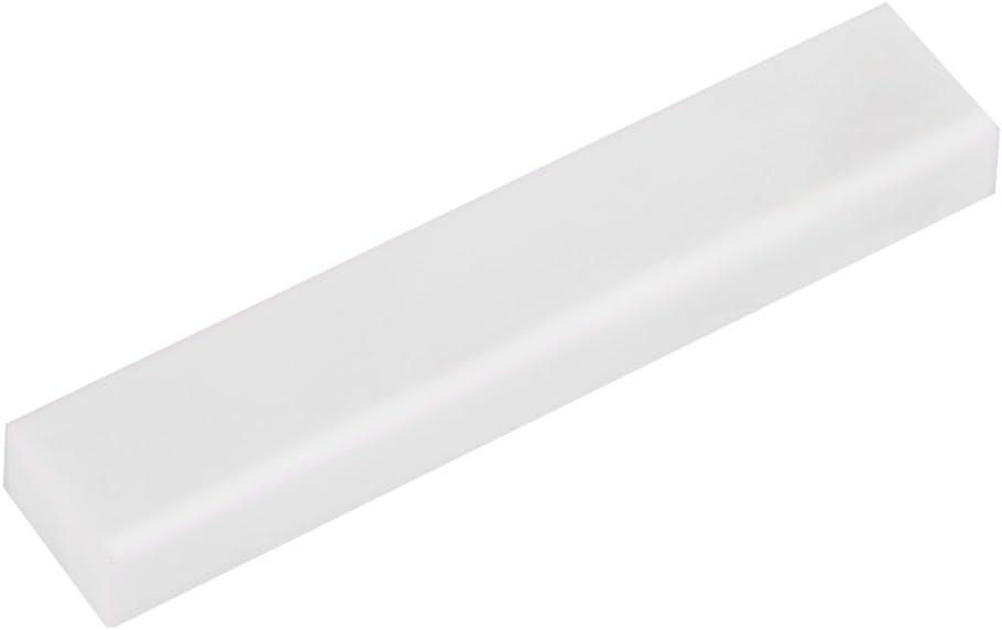 Alomejor Chitarra Acustica Ponticello dell Osso Bone Guitar Bridge Fatto di Ossa di Bue di Prima Scelta per la Sostituzione della Chitarra Classica Acustica Bianca