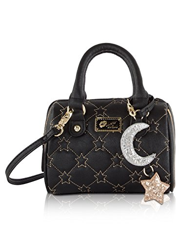 Luv Betsey Johnson Harlii Star Mini Crossbody Satchel Bag - Black Gold by Betsey Johnson
