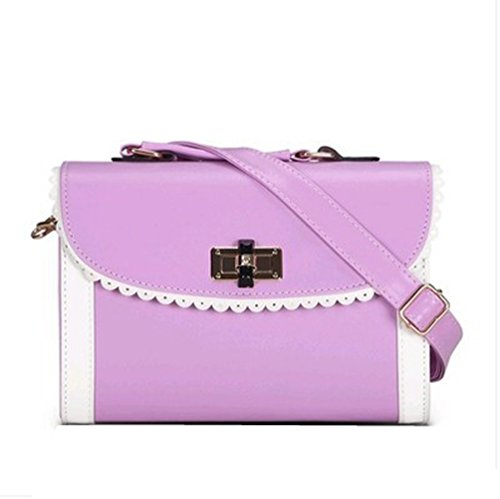Handle Messenger Purple Shop Mini Candy Bags Handbag Top Lock Tote Shoulder Womens Beach Hobos RgSnxA