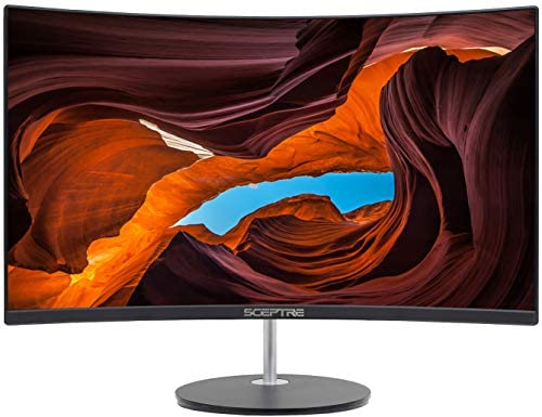 "Sceptre Curved 27"" 75Hz LED Monitor HDMI VGA Build-In Speakers, EDGE-LESS Metal Black 2019 (C275W-1920RN)"
