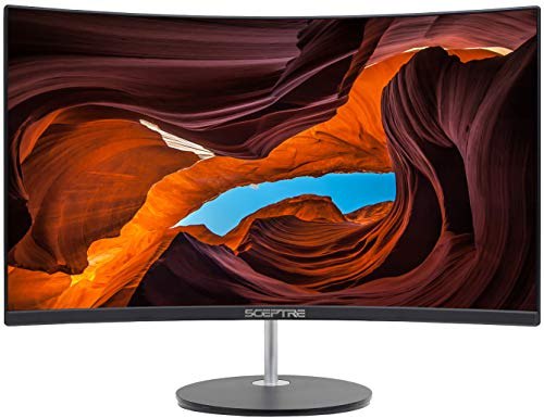 """Sceptre Curved 27"""" 75Hz LED Monitor HDMI VGA Build-In Speakers, EDGE-LESS Metal Black 2019 (C275W-1920RN)"""