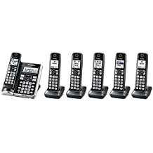 Panasonic KX-TGF575S Plus One KX-TGFA51B Handset Link2Cell BluetoothCordless Phone with Voice Assist and Answering Machine - 6 Handsets (Renewed) One line Phone
